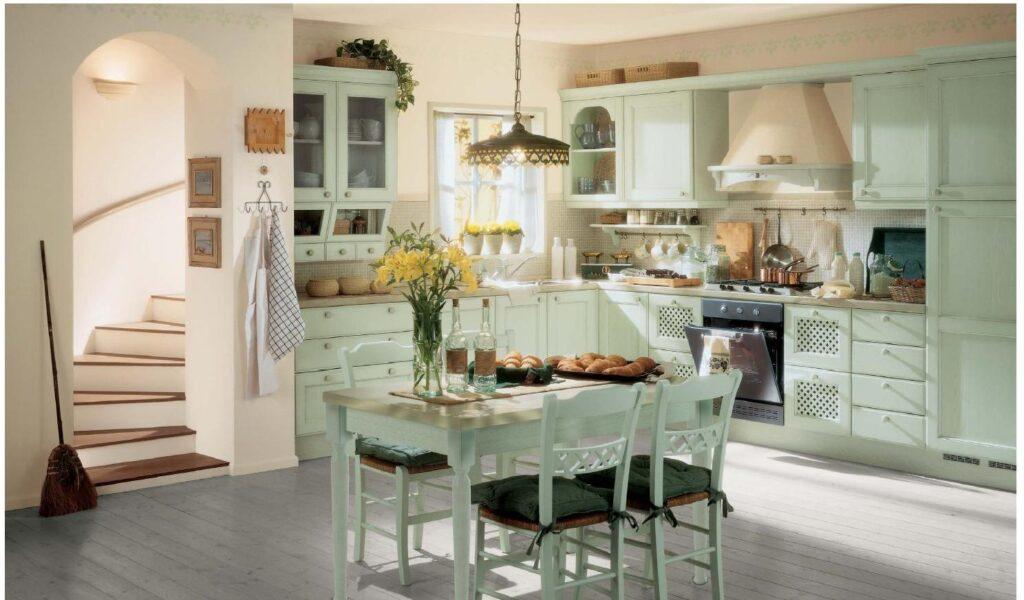 Американский стиль в интерьере кухни
