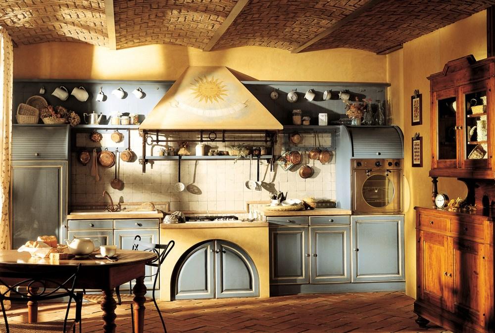 Русский стиль в интерьере кухни