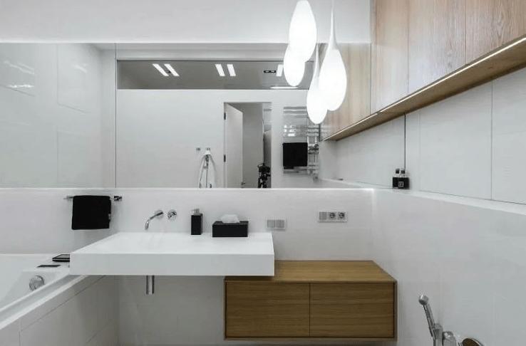 дизайн-интрьера-маленькой-ванной-комнаты стандартная 3 метра