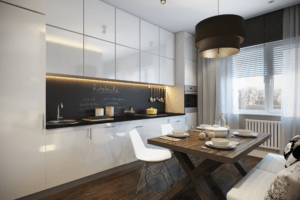 дизайн интерьера на кухне минимализм