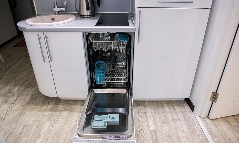 посудомоечная машина встроенная в кухню