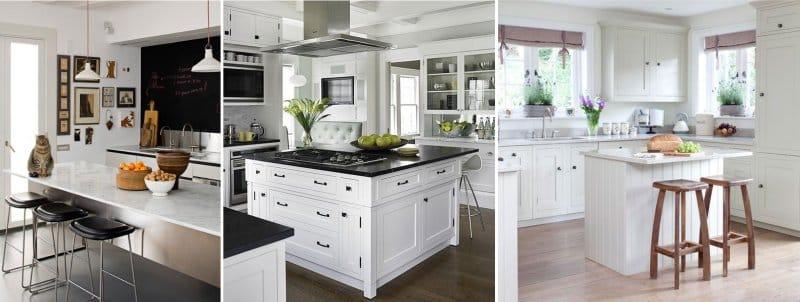 Основное достоинство кухни-острова в том, что она создает отдельную рабочую площадь, но при этом не нарушает ощущения открытости комнаты