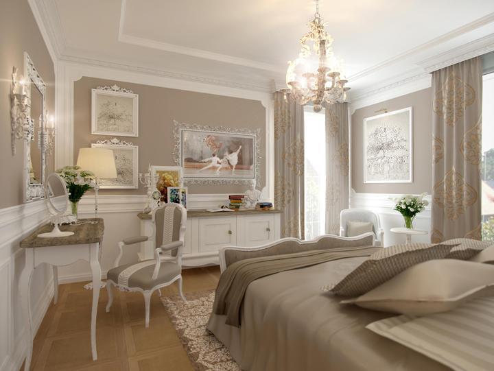 Спальня в современном французском стиле