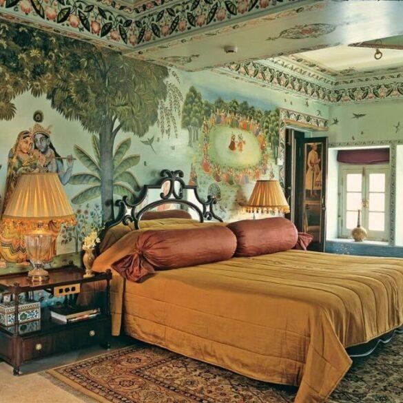 Дизайн спальни в индийском стиле