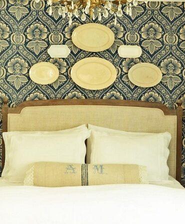 Драпировка ткани в спальне