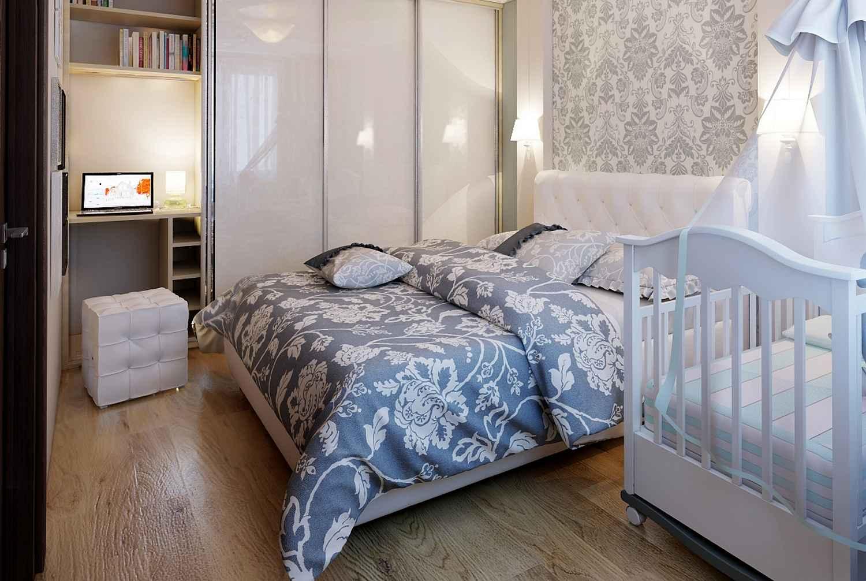 Зонирование маленькой квартиры. Спальня и детская