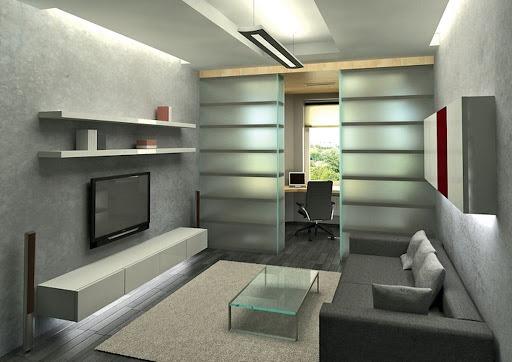 Как совместить кабинет с гостиной?