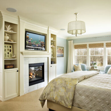 Камин в спальне дизайн