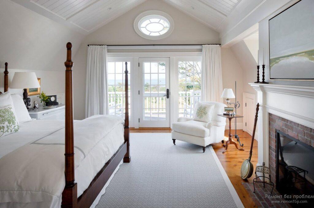 колониальном стиль спальни