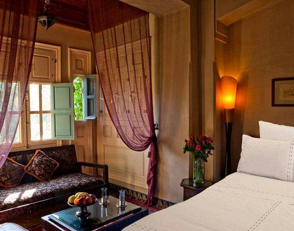 Спальня в марокканском стиле.