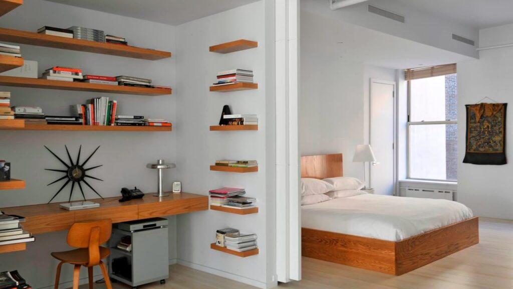 Кабинет-спальня в одной комнате