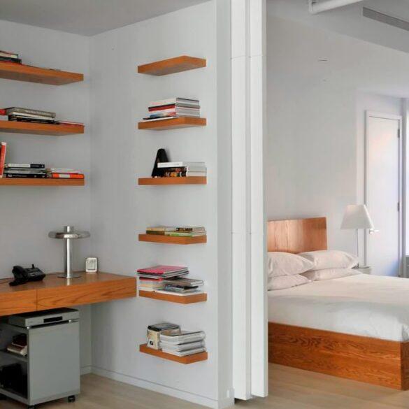 Спальня и кабинет в одной комнате