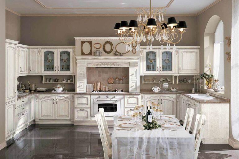 Стиль барокко в интерьере кухни