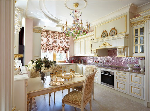 Стиль рококо в интерьере кухни