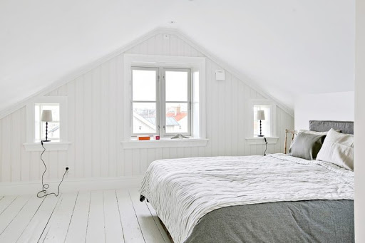 Уютная спальня на чердаке дизайн