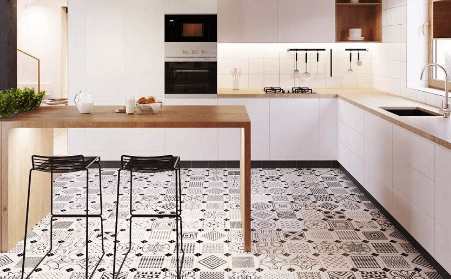 линолеум на кухню под плитку