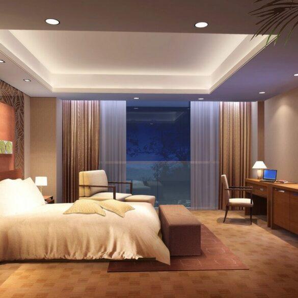 освещение в спальне без люстры
