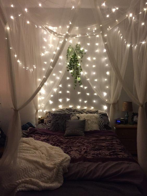 Зонирование светом. Декоративное освещение в спальне
