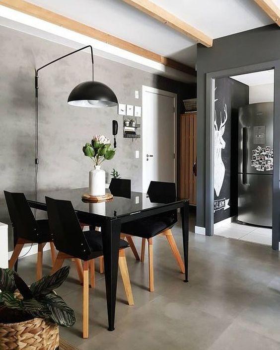 Точечное освещение стола в квартире. Зонирование светом