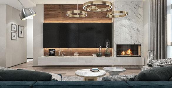 Стиль модерн гостиная