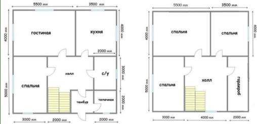 Разработка планировки двухэтажного дома