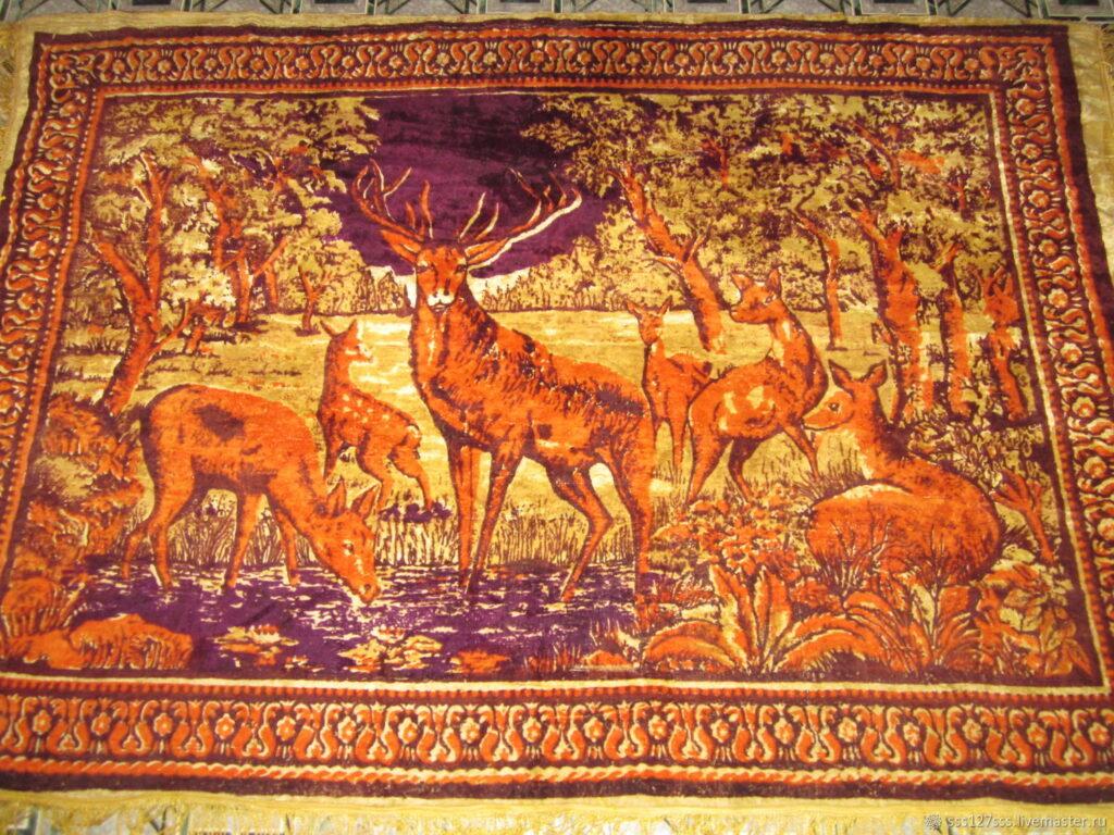 ковер с оленями